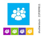 User Group Network Icon. Flat...