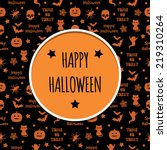 halloween decoration with... | Shutterstock .eps vector #219310264