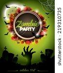 illustration on a halloween...   Shutterstock . vector #219310735