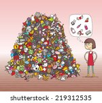 find objects visual game.... | Shutterstock .eps vector #219312535