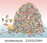 find objects visual game.... | Shutterstock .eps vector #219312544