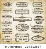 christmas decoration design... | Shutterstock .eps vector #219313594