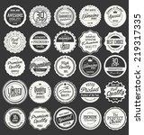 premium  quality retro vintage... | Shutterstock .eps vector #219317335