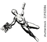 sci fi character posing with... | Shutterstock . vector #21932086
