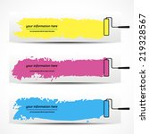 banner  colored vector brush... | Shutterstock .eps vector #219328567