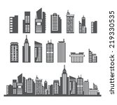 building collection | Shutterstock .eps vector #219330535