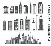building collection | Shutterstock .eps vector #219330685