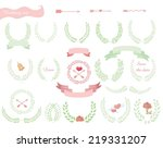 set of wedding design floral... | Shutterstock .eps vector #219331207