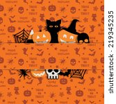 halloween decoration with... | Shutterstock .eps vector #219345235