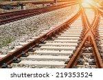 the way forward railway | Shutterstock . vector #219353524