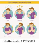 flat infographic   most commons ... | Shutterstock .eps vector #219358891