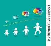 infographic child and brain... | Shutterstock .eps vector #219359095