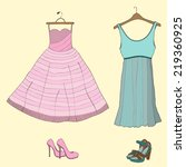 vector illustration with dress... | Shutterstock .eps vector #219360925