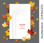 blank with maple leaves. vector ... | Shutterstock .eps vector #219362251
