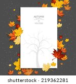 white blank on autumn... | Shutterstock .eps vector #219362281