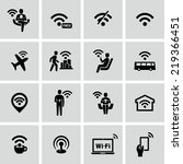 wifi icons | Shutterstock .eps vector #219366451
