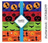 halloween seamless pattern set | Shutterstock .eps vector #219368299