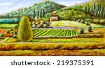 rural landscape from central... | Shutterstock . vector #219375391