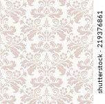 damask seamless floral pattern. ... | Shutterstock . vector #219376861