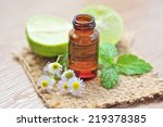 essential oil for aromatherapy.   Shutterstock . vector #219378385