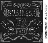 vintage calligraphic elements | Shutterstock .eps vector #219378817