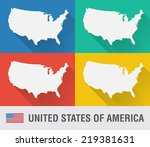 usa world map in flat style...