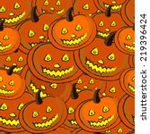 halloween seamless background | Shutterstock .eps vector #219396424