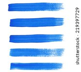 blue ink vector brush strokes | Shutterstock .eps vector #219397729