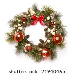 christmas door decoration... | Shutterstock . vector #21940465