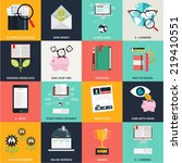 flat design concept icons for... | Shutterstock .eps vector #219410551
