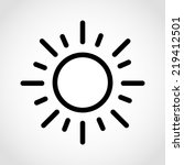 sun icon isolated on white... | Shutterstock .eps vector #219412501