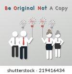 paper best original idea...   Shutterstock .eps vector #219416434