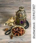 dates  arabian lantern and...   Shutterstock . vector #219417307