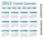 2015 france european calendar.... | Shutterstock .eps vector #219419119