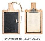 kitchen board with chalkboard...   Shutterstock . vector #219420199