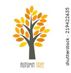 autumn tree icon. vector... | Shutterstock .eps vector #219422635