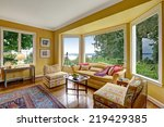 bright yellow sitting area with ... | Shutterstock . vector #219429385