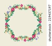 floral frame  colorful design...   Shutterstock .eps vector #219437197