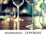 Close Up Picture Empty Glasses - Fine Art prints