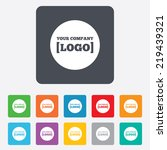 logo sign icon. place for... | Shutterstock . vector #219439321