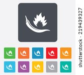 hot chili pepper sign icon.... | Shutterstock . vector #219439327