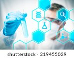medical research and chemistry... | Shutterstock . vector #219455029