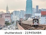 Subway Train In New York Befor...