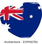 grunge australia flag in heart... | Shutterstock .eps vector #219456781