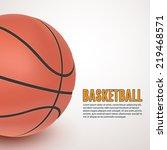 basketball background . vector... | Shutterstock .eps vector #219468571