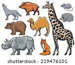 set of hand drawn  sketch... | Shutterstock .eps vector #219476101