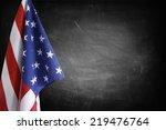 american flag in front of... | Shutterstock . vector #219476764