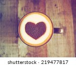 Coffee Latte Art With Heart In...