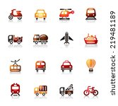 transportation colorful icons | Shutterstock .eps vector #219481189