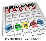 build good habits words on a... | Shutterstock . vector #219483949